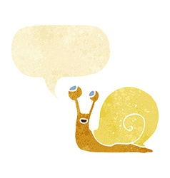Cartoon snail with speech bubble vector