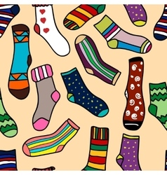 Seamless pattern of doodle socks for web design vector
