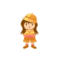 Little Girl Dressed For Safari vector image