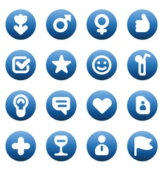 Buttons for dating and love vector