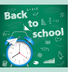 back to school green school background vector image vector image