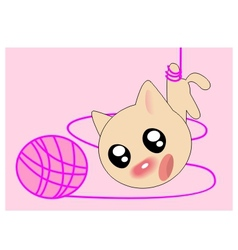 ball kitten vector image vector image