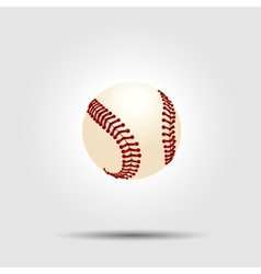 Baseball ball isolated on white with shadow vector image vector image