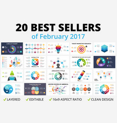 Best circle infographics set business vector