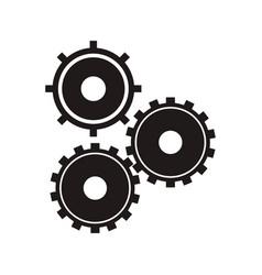 Black gear wheel work vector