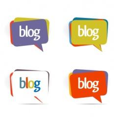 blogs elements vector image vector image