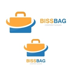 briefcase logo design vector image