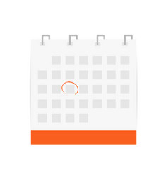 calendar icon with circled date calendar symbol vector image vector image