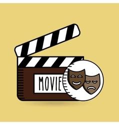 Clapper movie hand icon design vector