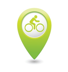 cyclist symbol map pointer green vector image