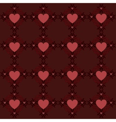 Dark red hearts pattern2 vector image