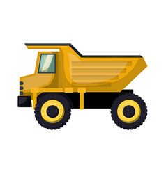 dump truck flat icon colorful silhouette with half vector image vector image