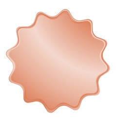 empty bronze label that can be used as a seal the vector image vector image
