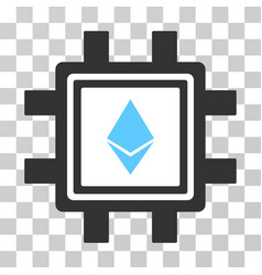 Ethereum crystal mining pool icon vector