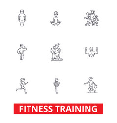 Fitness class gym workout running crossfit vector
