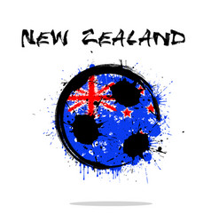 flag of new zealand as an abstract soccer ball vector image vector image