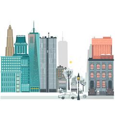 flat urban landscape skyline background vector image
