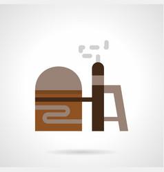 Gas storage flat color icon vector