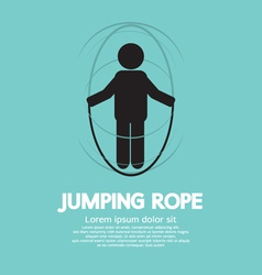 Jumping rope vector