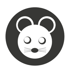Mouse cute animal character farm vector
