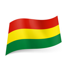 National flag of bolivia red yellow and green vector