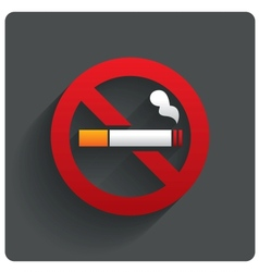 No smoking sign no smoke icon stop smoking vector