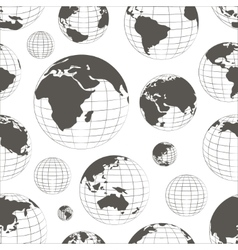 Pattern of nine globes vector image