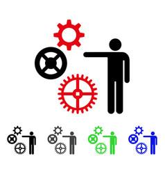 Project mechanics flat icon vector