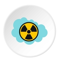 Radioactive air icon flat style vector