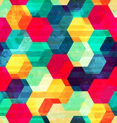 retro rhombus seamless texture vector image