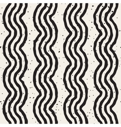 Seamless hand drawn wavy lines grunge vector