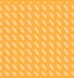 Seamless wheat pattern vector
