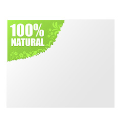 sign 100 natural vector image vector image