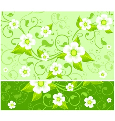 spring floral green vector image vector image