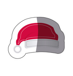 Sticker shading santa christmas hat icon design vector