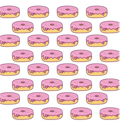 sweet donuts background vector image