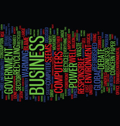 The environment is big business text background vector