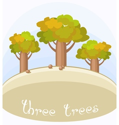 Three bottle trees vector
