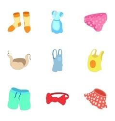 Underwear icons set cartoon style vector image vector image