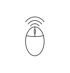 wireless mouse icon vector image vector image