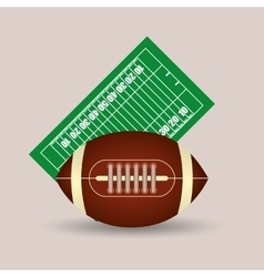 American football field ball vector