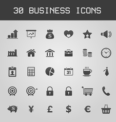 Business design elements icon set vector
