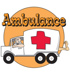 Comedic ambulance vector image