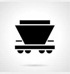 Freight rail car glyph style icon vector