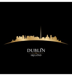 Dublin ireland city skyline silhouette vector