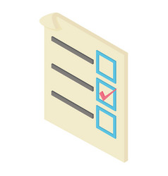 form voting icon isometric 3d style vector image