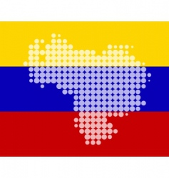 map and flag of Venezuela vector image