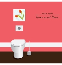 Toilet 3d Red background vector image