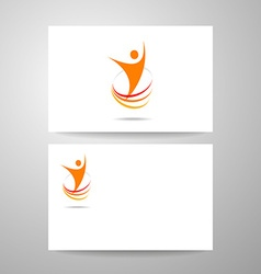 Success energy template vector