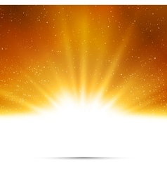 Abstract background Magic light with gold burst vector image